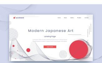 Abstract Modern Japanese Art Background