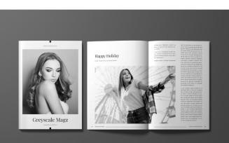 Greyscale Magz Magazine Template
