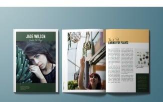 Jade Wilson Magazine Template