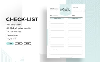 Project/Events Checklist Planner