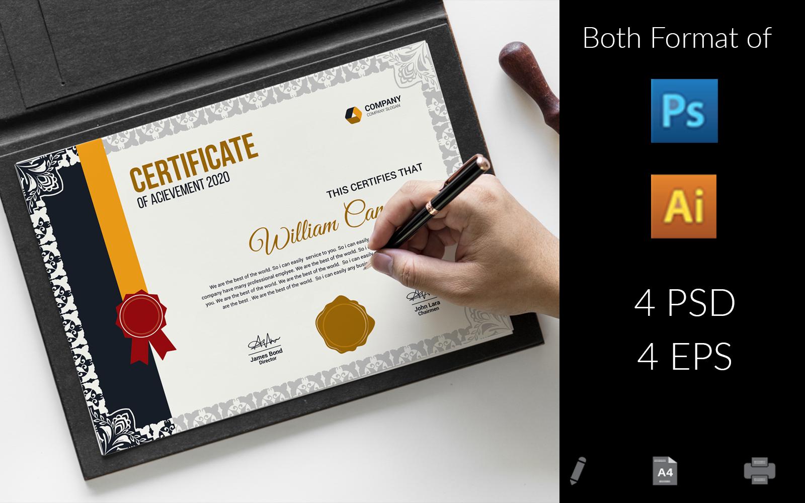 Web Design Certificate Template 158458