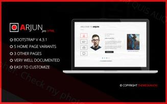 Arjun-HTML Website Template