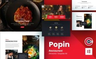 Popin - Restaurant Template Elementor Kit