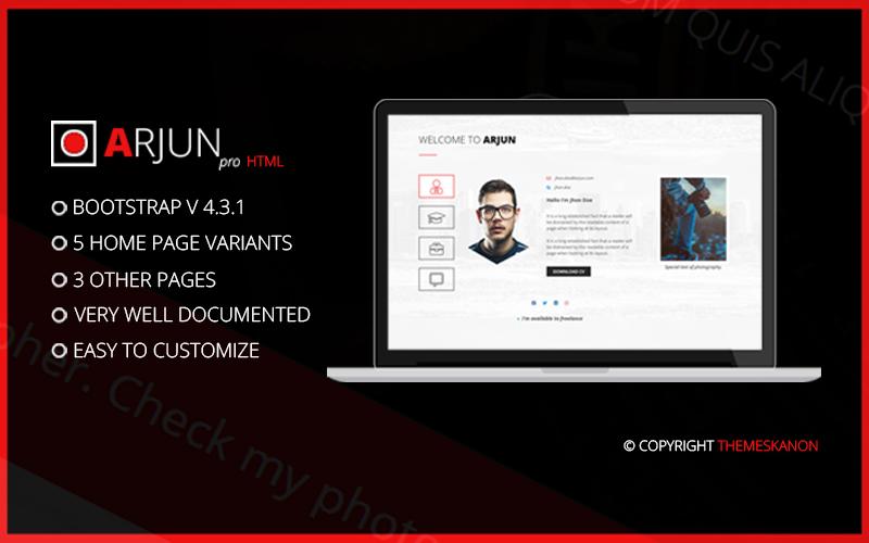 """Arjun-HTML"" Responsive Website template №158527"