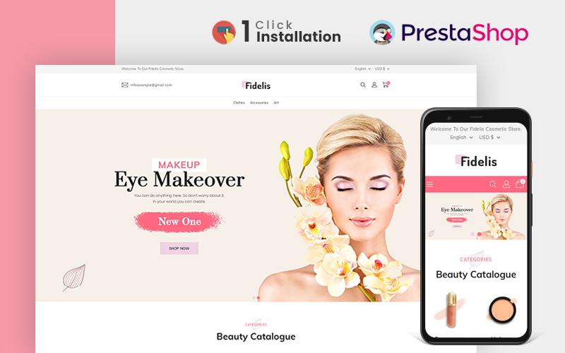 """""""Fidelis Cosmetic"""" Responsive PrestaShop Thema №158528"""
