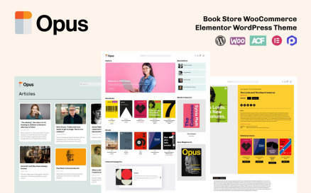 OPUS - Book Store WooCommerce Theme