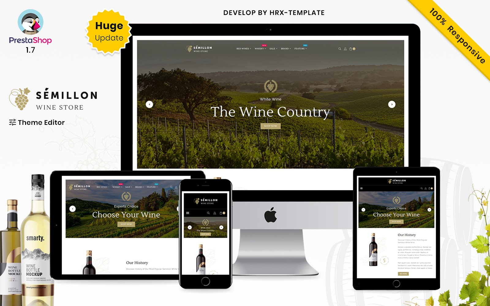 Reszponzív Semillon Wine And Alcohol Store PrestaShop sablon 158525