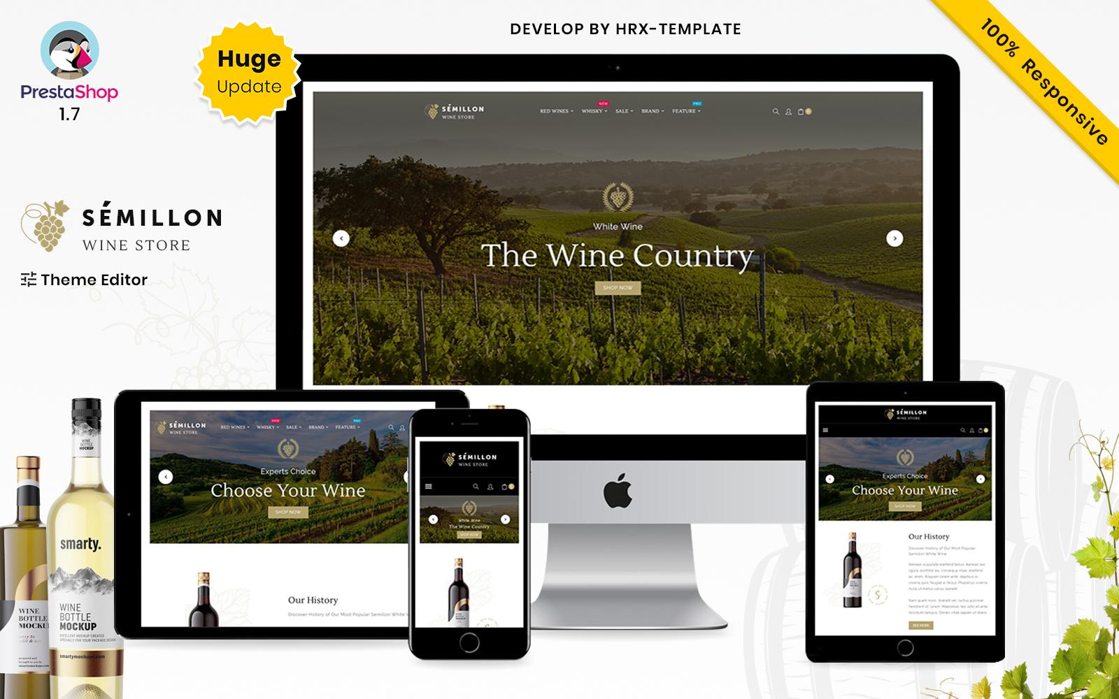 Semillon Wine And Alcohol Store Tema PrestaShop №158525