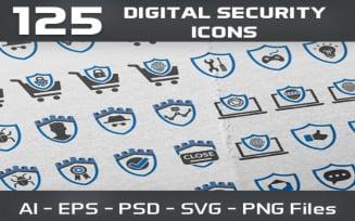 125 Digital Security Icon Set