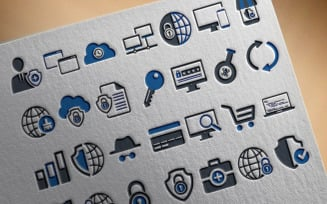 50 Professional Security Icon Set