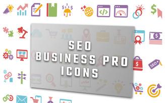Professional Seo Business Icon Set