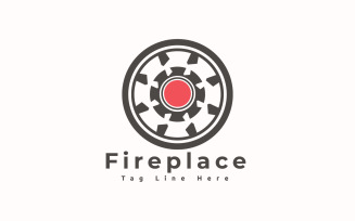 Fireplace Logo Template