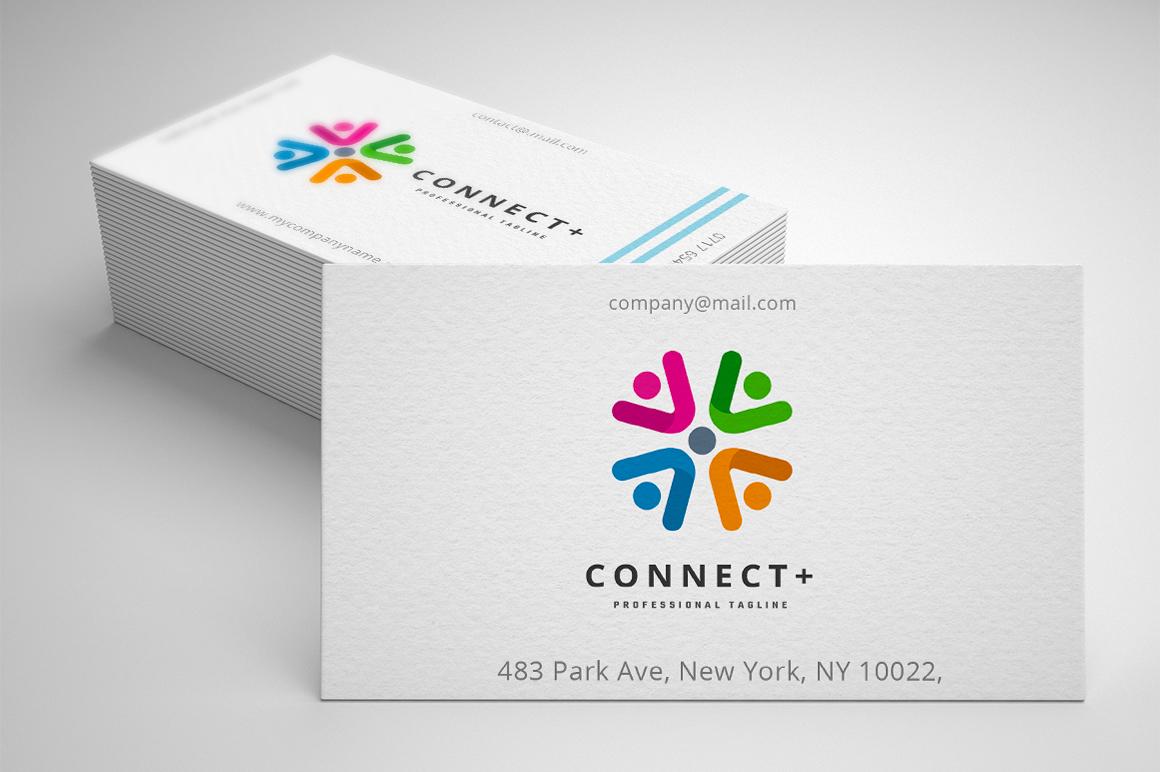 Connect Plus Template de Logotipo №158772