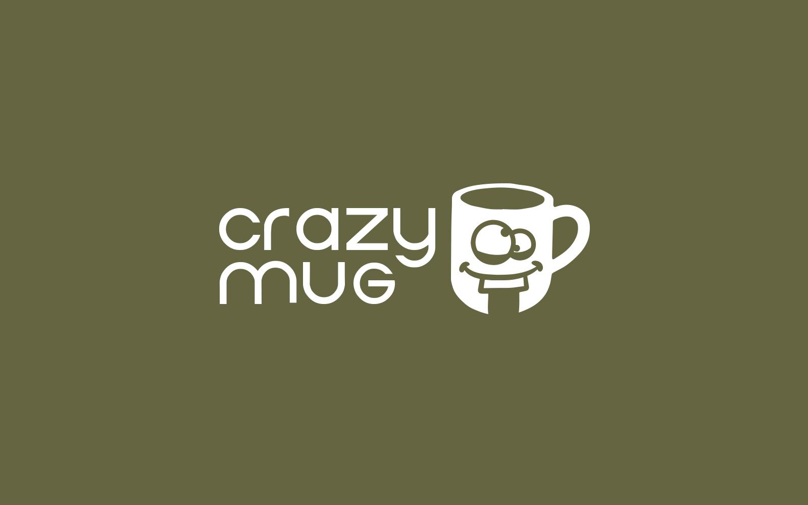 Crazy Mug Template de Logotipo №158777
