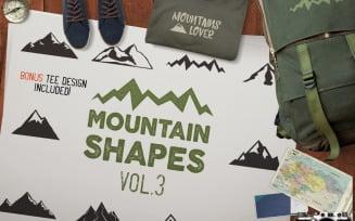 Mountain Shapes SVG Bundle Part 3 - Vector Image