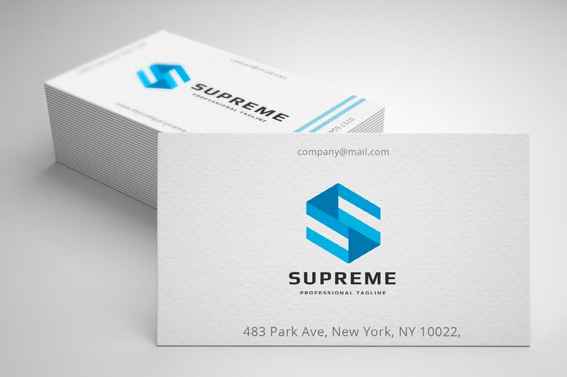 Supreme Letter S Template de Logotipo №158778