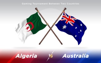 Algeria versus Australia Two Countries Flags
