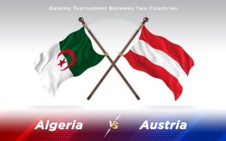 Algeria versus Austria Two Countries Flags