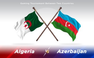 Algeria versus Azerbaijan Two Countries Flags