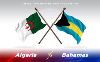 Algeria versus Bahamas Two Countries Flags
