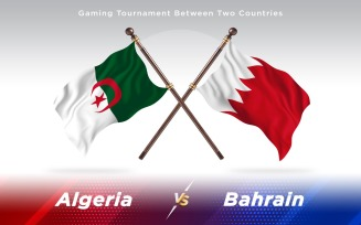Algeria versus Bahrain Two Countries Flags