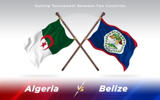 Algeria versus Belize Two Countries Flags