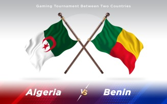 Algeria versus Benin Two Countries Flags
