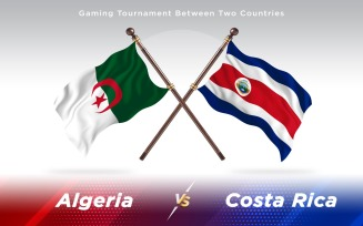 Algeria versus Costa Rica Two Countries Flags