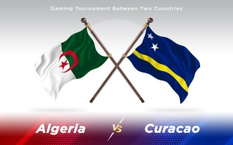 Algeria versus Curacao Two Countries Flags