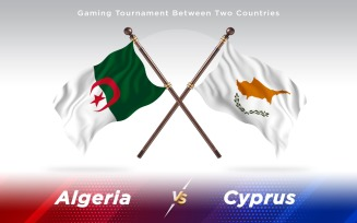 Algeria versus Cyprus Two Countries Flags