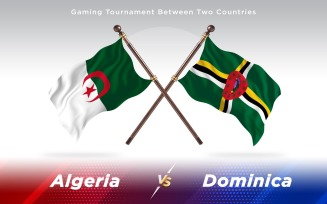 Algeria versus Dominica Two Countries Flags