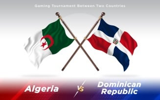 Algeria versus Dominican Republic Two Countries Flags