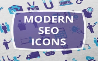 50 Modern Seo Template Iconset