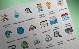 SEO Marketing Professional Template Iconset