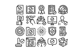 Approved Collection Elements Vector Set