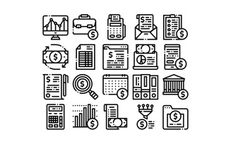 Financial Accounting Collection Vector Set