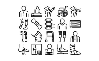 Orthopedic Collection Elements Vector Set