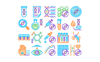 Biomaterials Collection Elements Vector Set