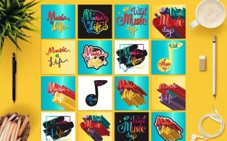 World Music Day Banners