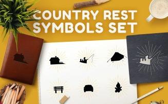 Country Rest Symbols Set