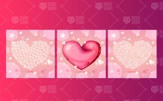 Hearts As Love Symbol Set