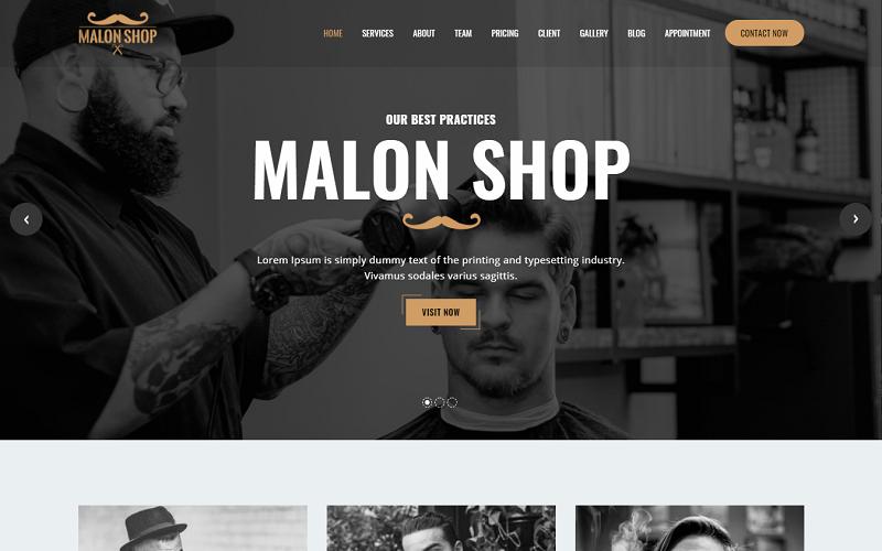 """Barber - Salon Website HTML Template"" - адаптивний Шаблон сайту №159022"