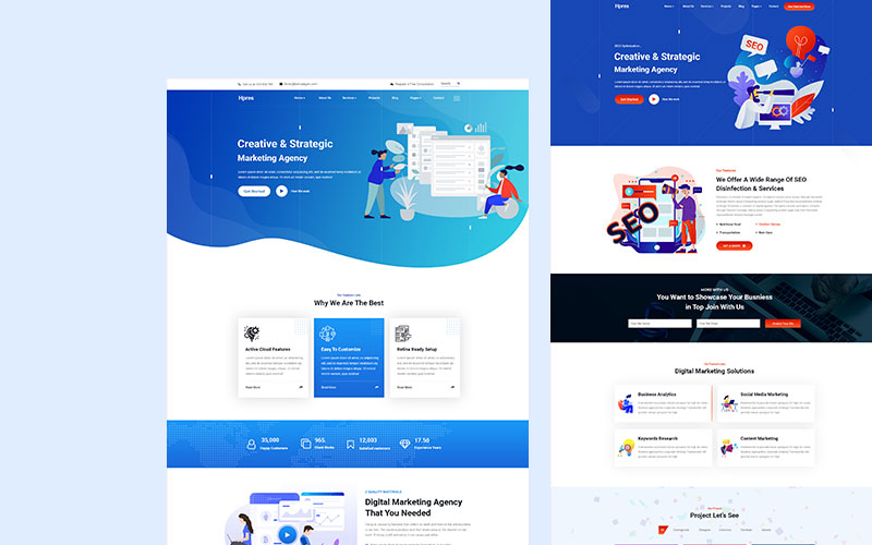 """Hpres-SEO Digital Marketing"" Responsive Website template №159020"