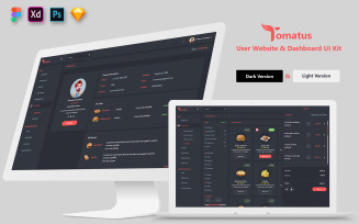 Restaurant User Website and Dashboard UI Kit