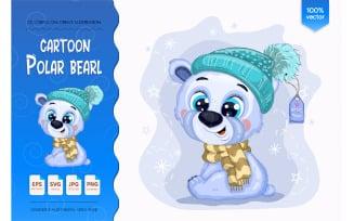 Cartoon Polar Bear.