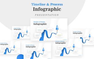 Rocket for Business Timeline Infographic
