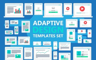 Adaptive Design UI Elements - Vector Image