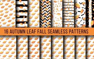 Autumn Leaf Fall Seamless Pattern