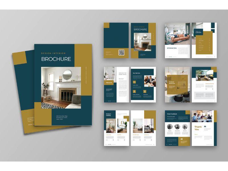 """Brochure 4 Design Interior"" 企业设计模板 #159112"