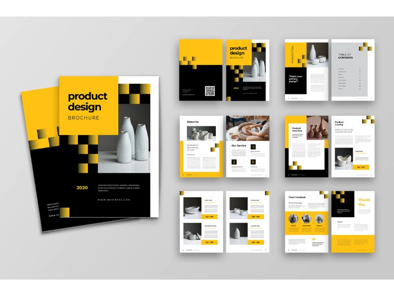 """Brochure 5 Product Design"" 企业设计模板 #159113"